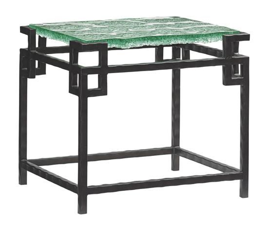 Tommy Bahama Home Island FusionHermes Reef Glass Top End Table