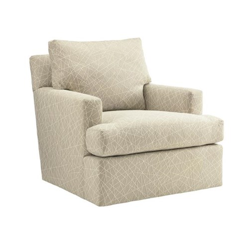 Tommy Bahama Home Island Fusion Bandar Contemporary Swivel Chair