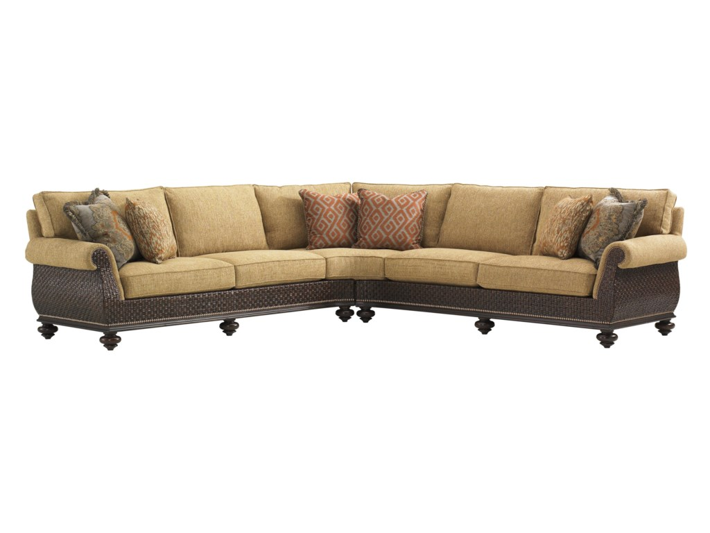 Tommy Bahama Home Island Traditions Westbury Sectional Sofa with ...