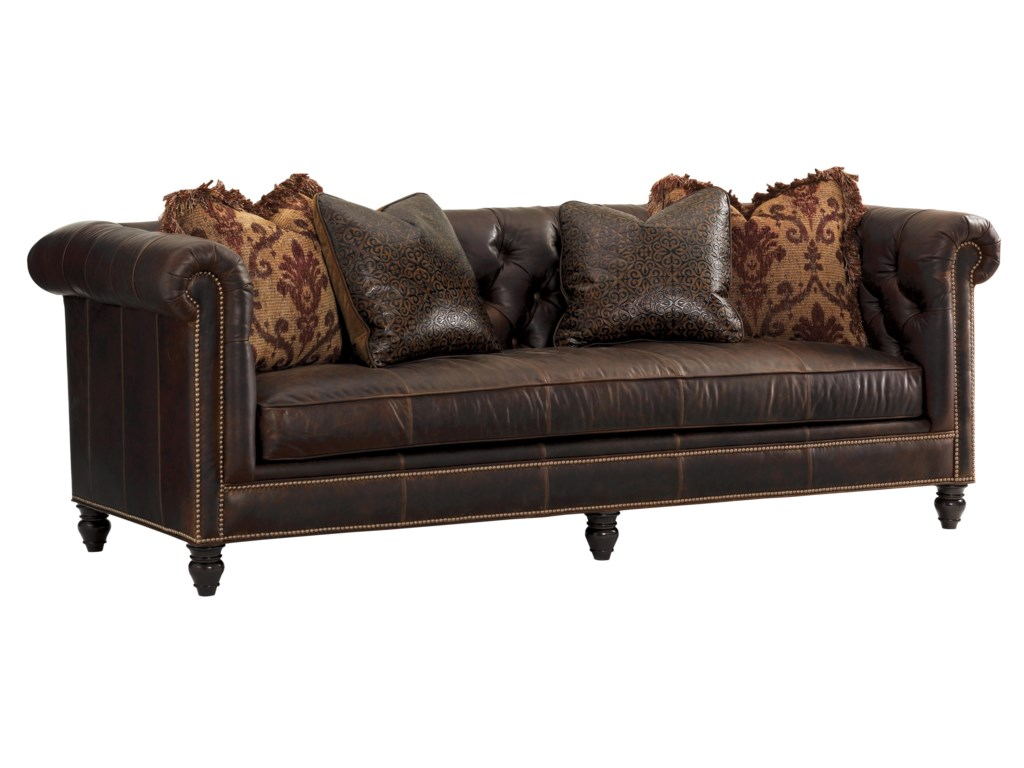 Tommy Bahama Home Island Traditionsmanchester Leather Sofa Married Cover