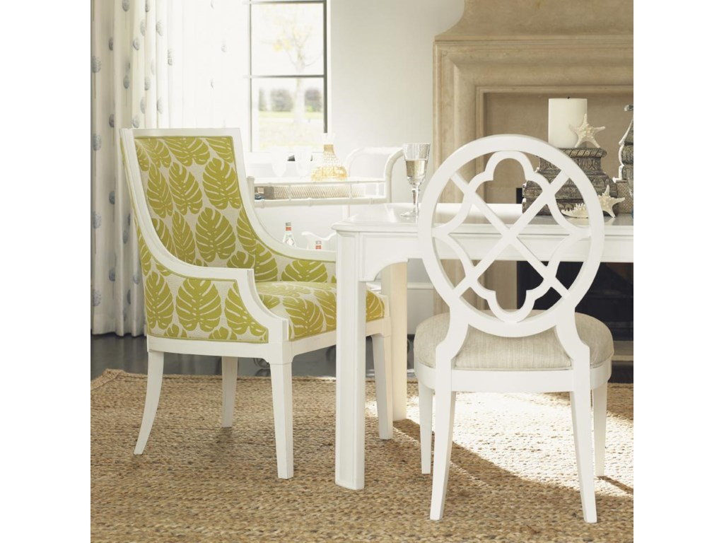 Tommy Bahama Home Ivory KeyAqua Bay Chair