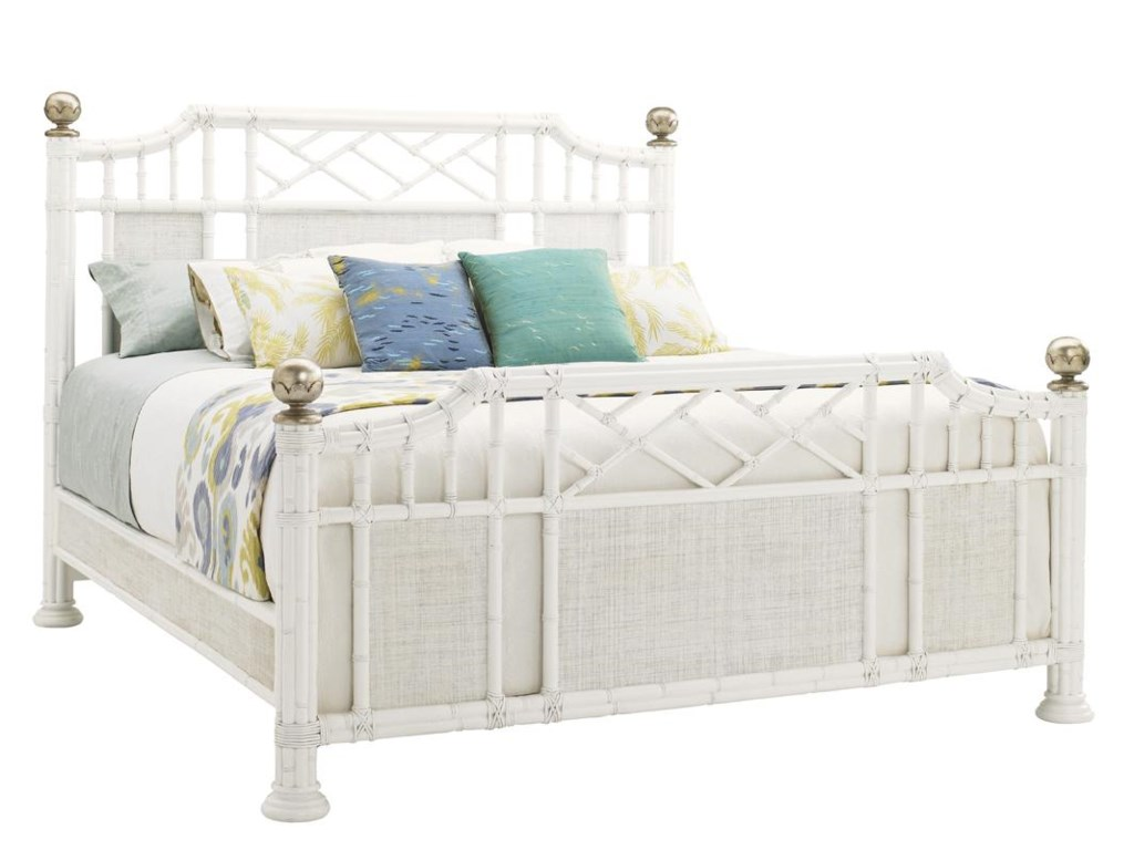 Tommy Bahama Home Ivory KeyKing Pritchards Bay Panel Headboard