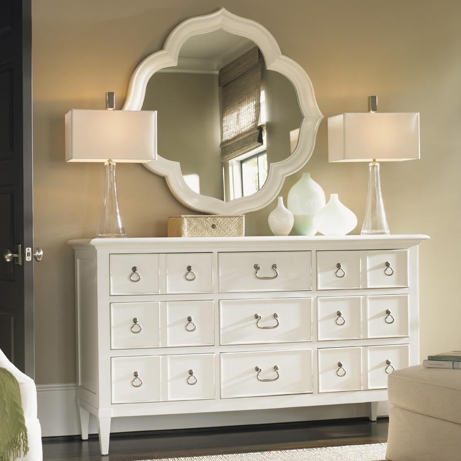 Tommy Bahama Home Ivory KeyGrotto Isle Dresser U0026 Paget Mirror ...