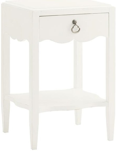 Tommy Bahama Home Ivory Key Water Street Bedside Table with Single Drawer