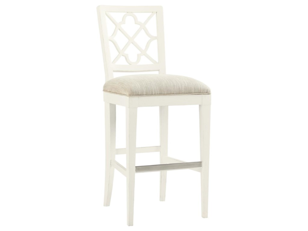 Tommy Bahama Home Ivory Key<b> Customizable </b> Newstead Bar Stool