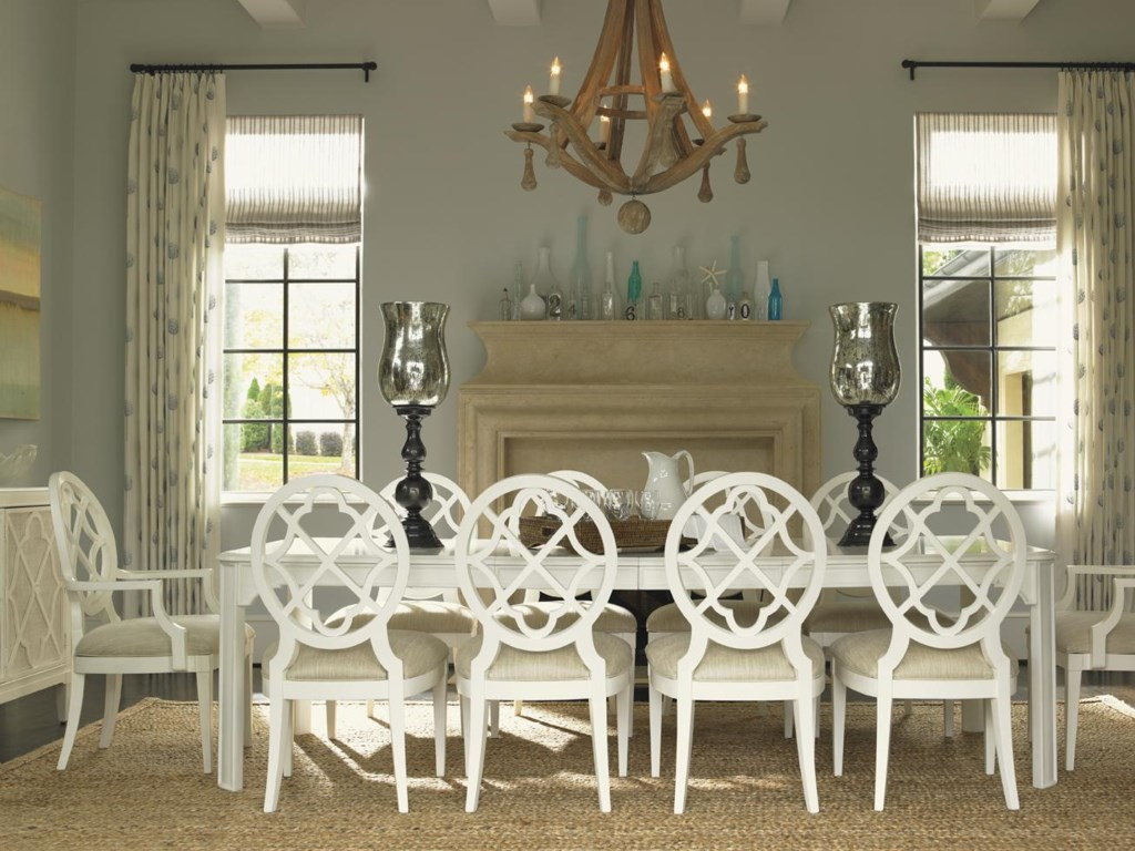 Tommy Bahama Home Ivory Key11 Piece Table and Chair Set