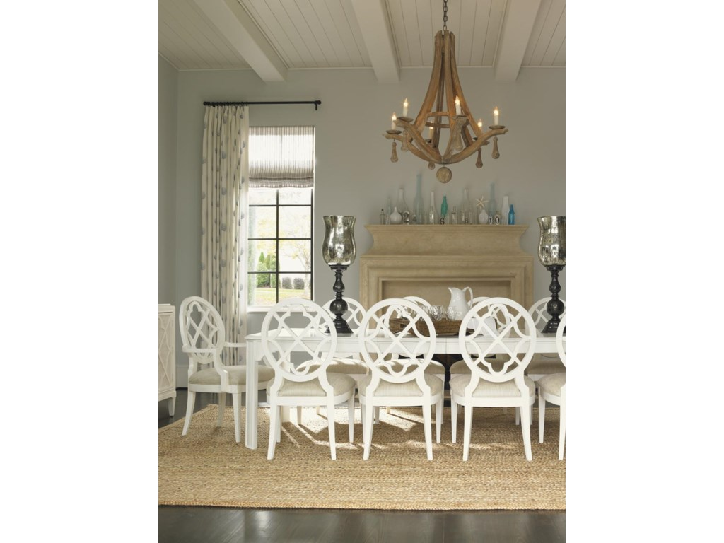 Shown with Mill Creek Side Dining Chairs and Arm Chairs