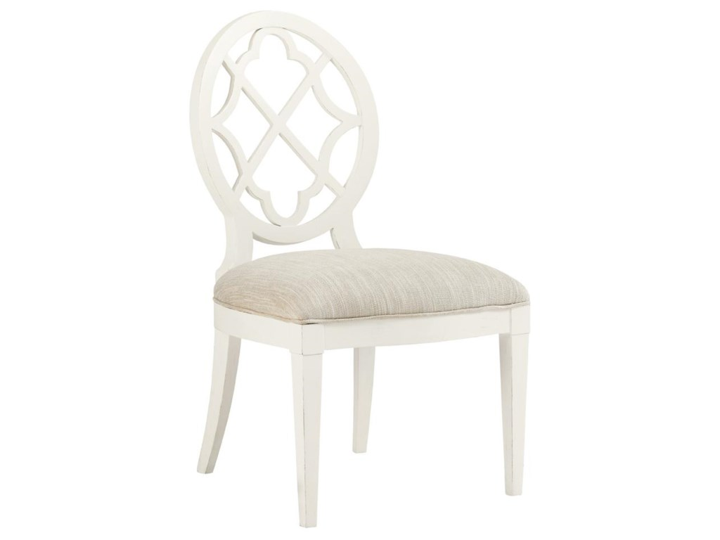 Tommy Bahama Home Ivory Key<b> Customizable </b> Mill Creek Side Chair