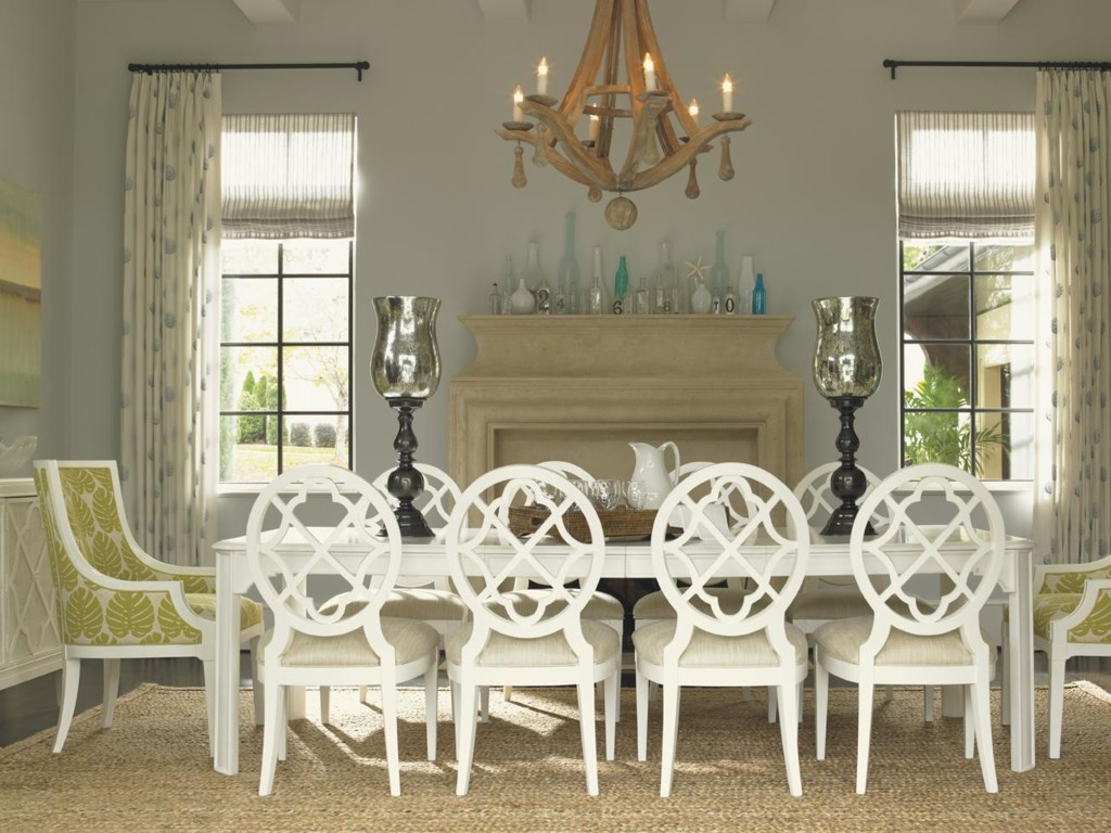Shown with Aqua Bay Arm Dining Chairs and Castel Harbour Dining Table