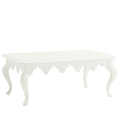 Tommy Bahama Home Ivory Key St. George Rectangular Cocktail Table with Moroccan Style Apron