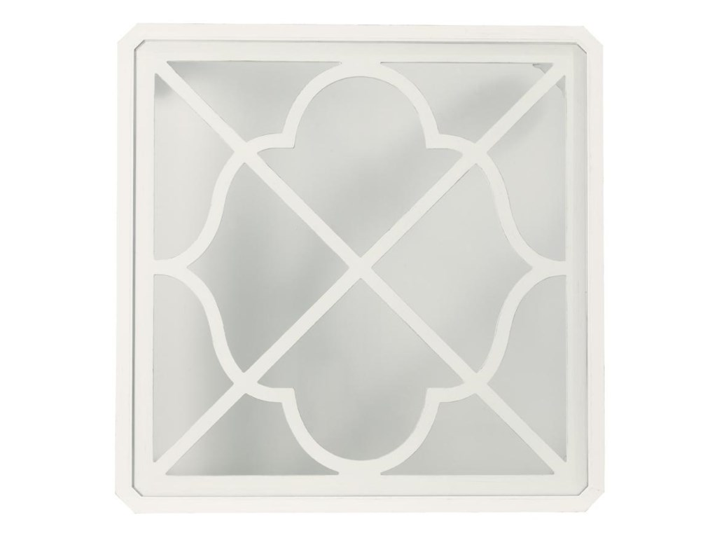 Detail of Glass Insert Top with Quatrefoil Fretwork