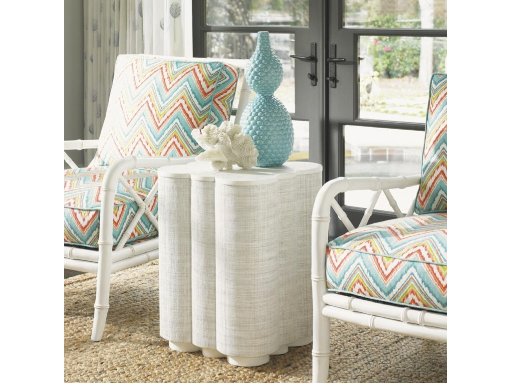 Tommy Bahama Home Ivory KeySpar Point Chairside Table