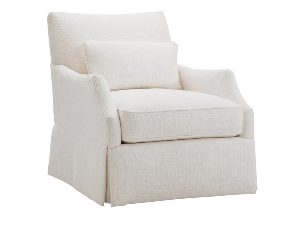 Tommy Bahama Home Ivory KeyCrystal Cave Chair & Ottoman