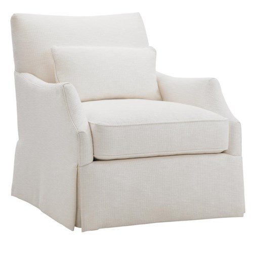 Tommy Bahama Home Ivory Key Crystal Caves Chair with Skirted Base