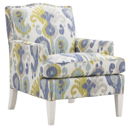Tommy Bahama Home Ivory Key Walton Upholstered Chair