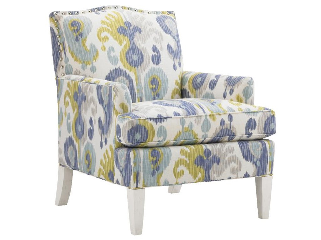 Tommy Bahama Home Ivory Key Walton Upholstered Chair Howell Furniture Upholstered Chairs
