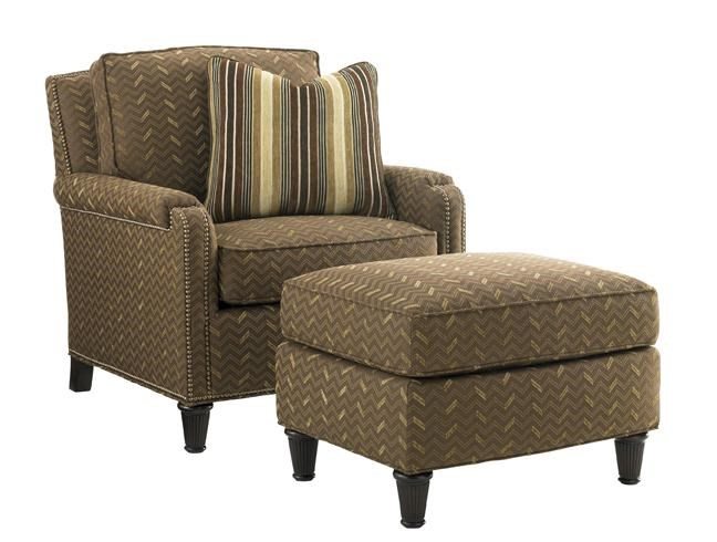 Tommy Bahama Home KilimanjaroBishop Chair and Ottoman Set
