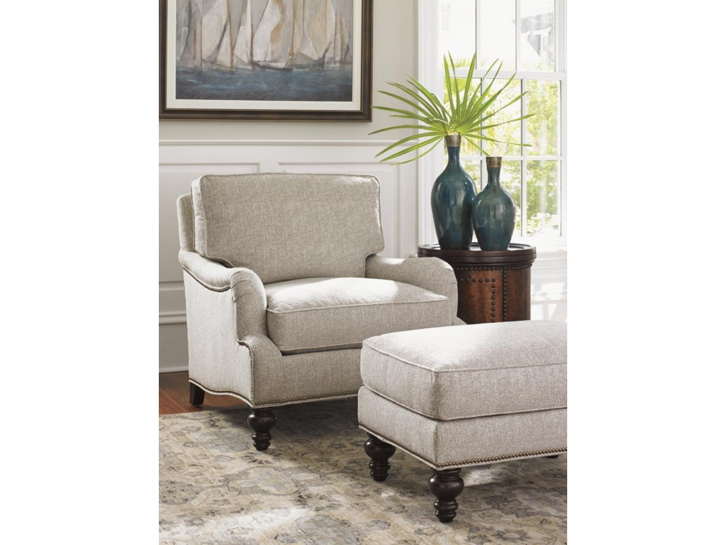 Tommy Bahama Home KilimanjaroAmelia Chair and Ottoman Set