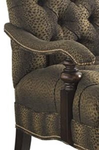 Detail of Upholstered Arm and Brass Nailheads Shown. Fabric Shown is 5826-71