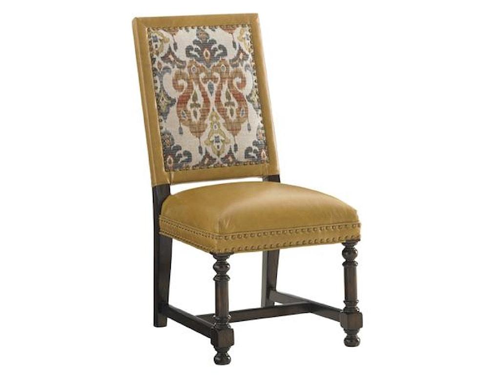 Tommy Bahama Home Kilimanjarojacqueline Leather Hostess Dining Chair