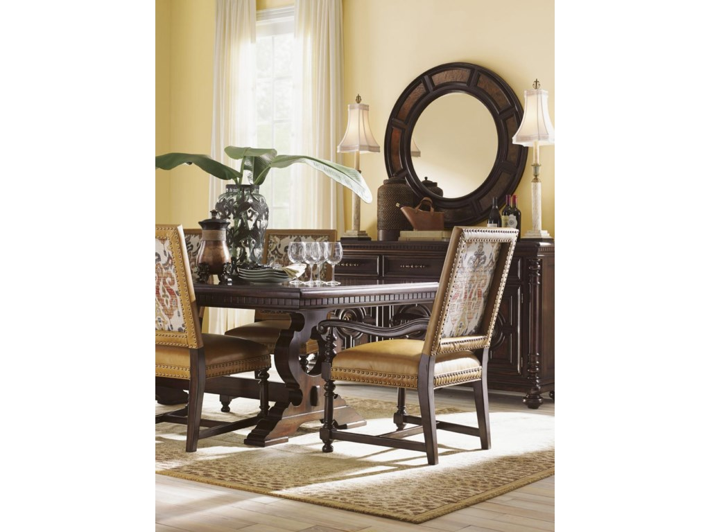 Tommy Bahama Home KilimanjaroJacqueline Leather Hostess Dining Chair