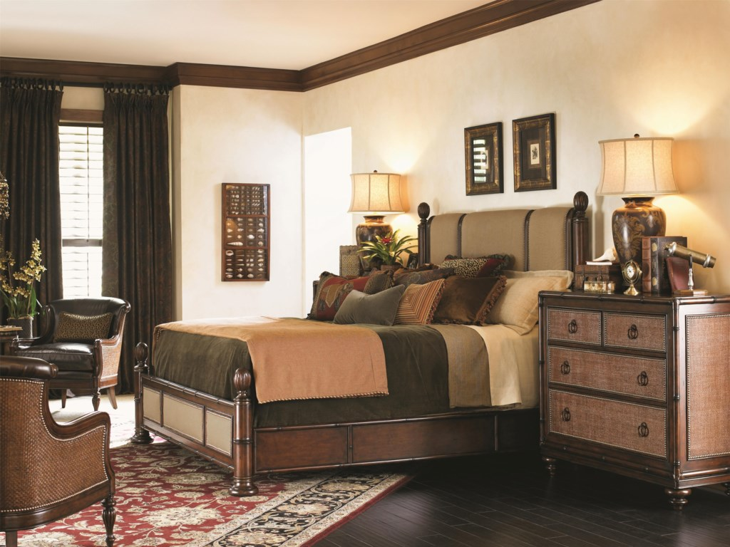 Tommy Bahama Home LandaraKing Monarch Bay Poster Bed