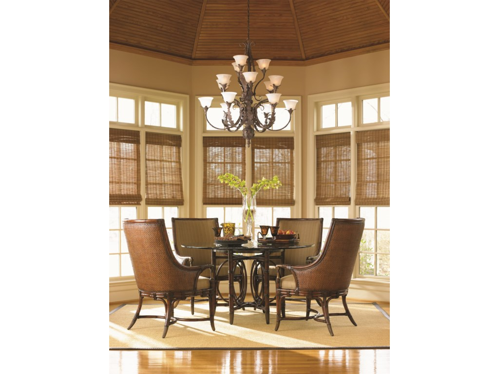 Tommy Bahama Home LandaraCoral Sea Rattan Dining Table