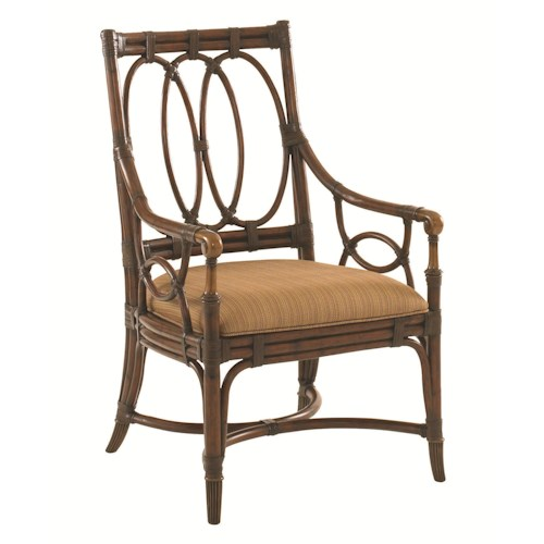 Tommy Bahama Home Landara Palmetto Quickship Arm Chair