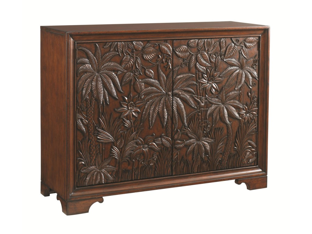 Tommy Bahama Home LandaraBalboa Carved Door Chest