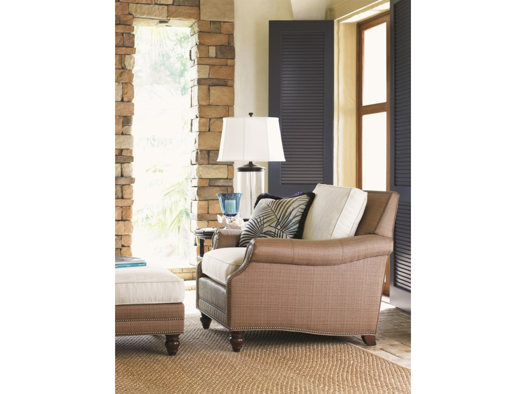 Tommy Bahama Home LandaraShoal Creek Chair and Ottoman Set