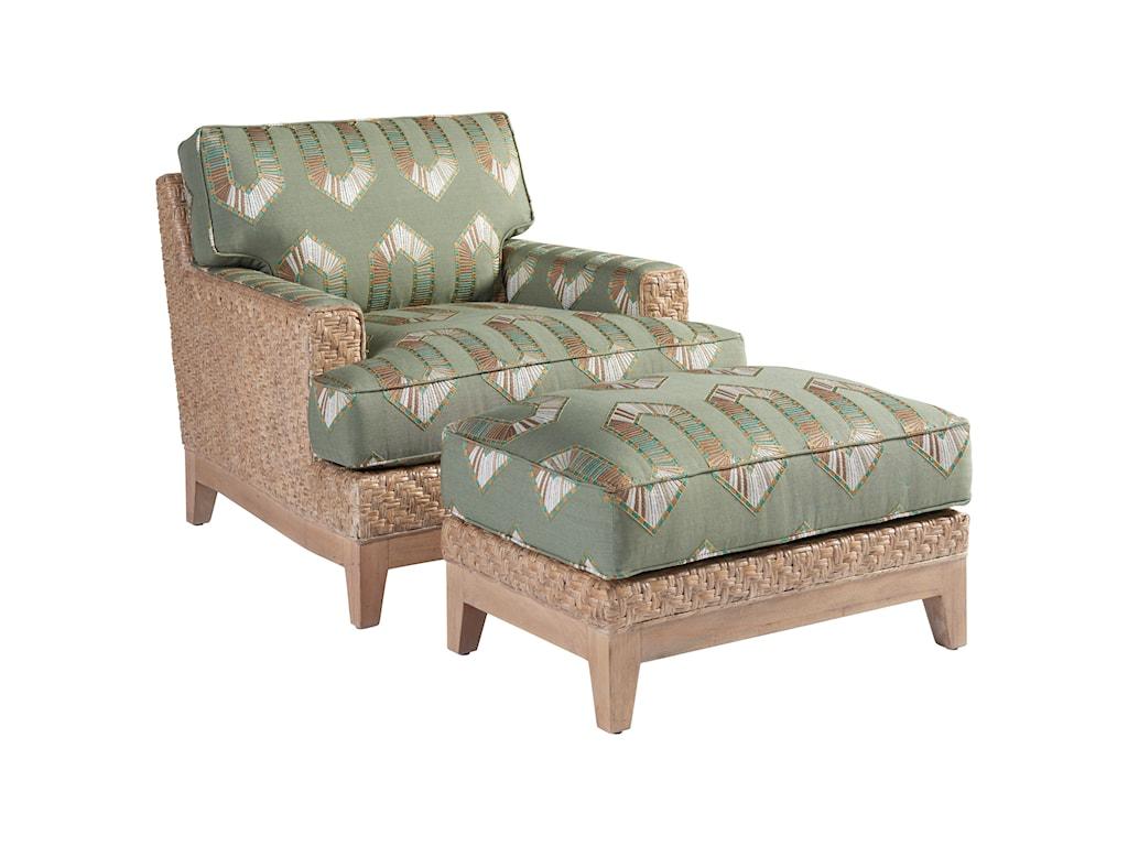 Tommy Bahama Home Los AltosDanville Chair & Ottoman