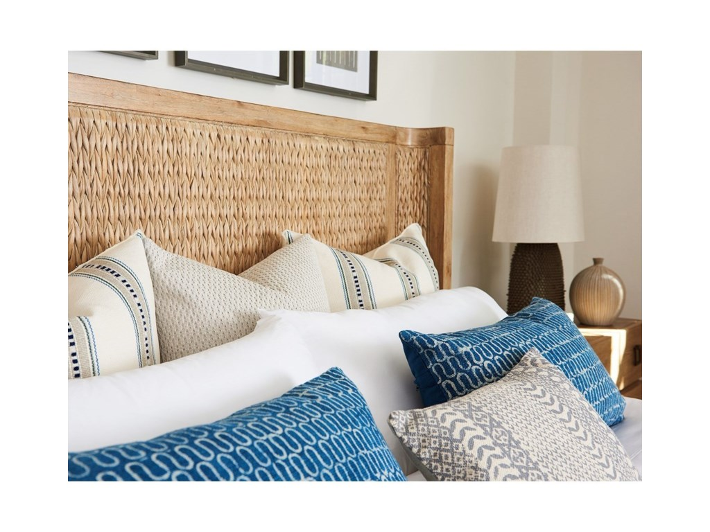 Tommy Bahama Home Los AltosIvory Coast Woven Bed 5/0 Queen