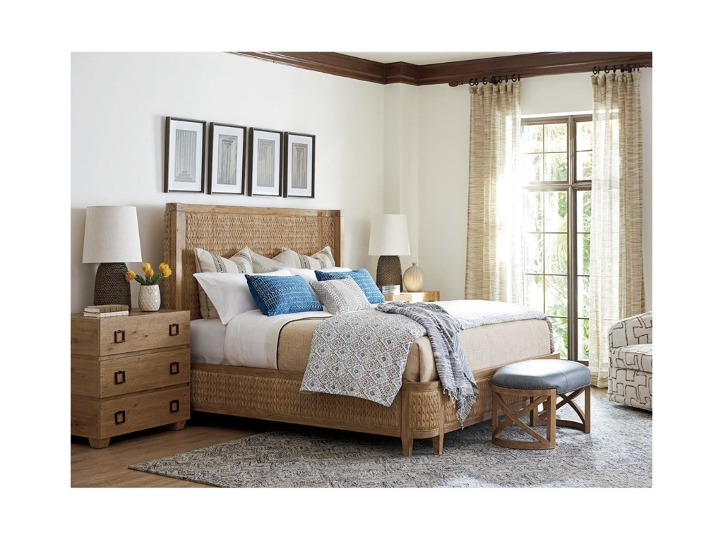 Tommy Bahama Home Los AltosIvory Coast Woven Bed 6/6 King