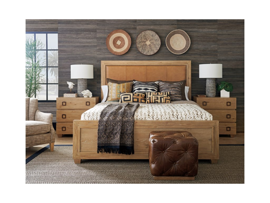 Tommy Bahama Home Los AltosAntilles Upholstered Panel Bed 5/0 Queen