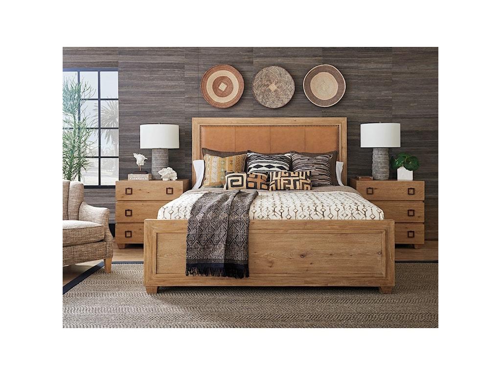 Tommy Bahama Home Los AltosAntilles Upholstered Panel Bed 6/6 King