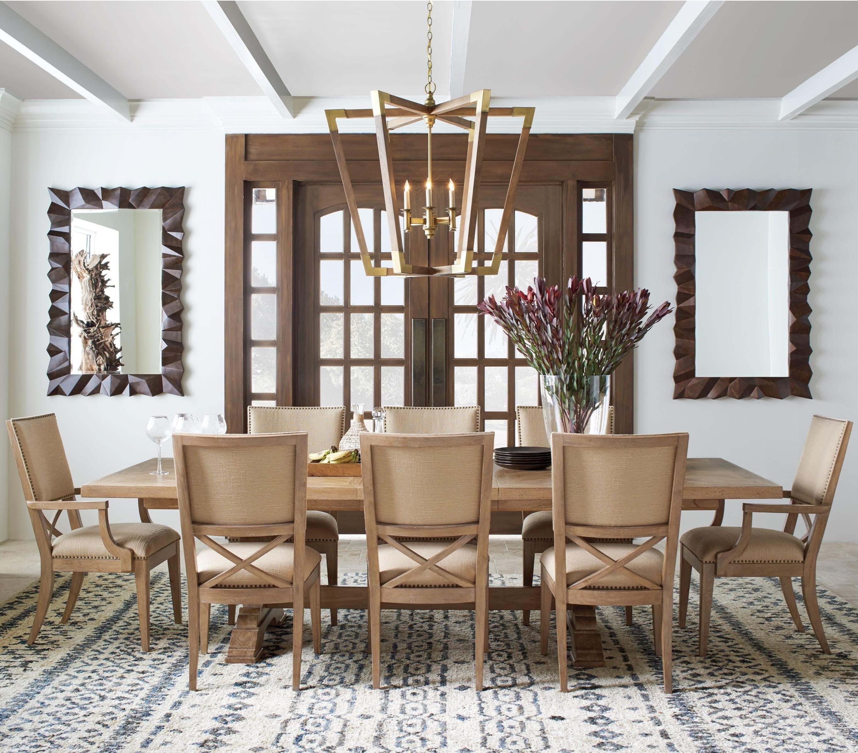 Tommy Bahama Home Los Altos Nine Piece Dining Set With Farmington Table And  Alderman Chairs
