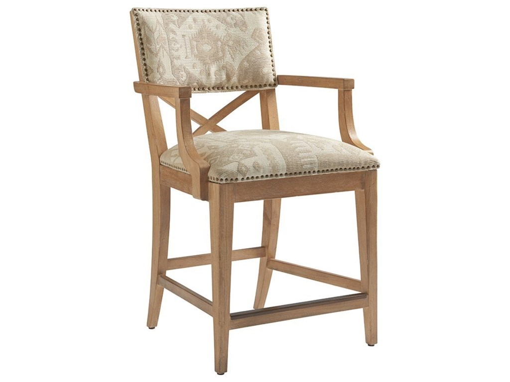Tommy Bahama Home Los AltosSutherland Upholstered Counter Stool