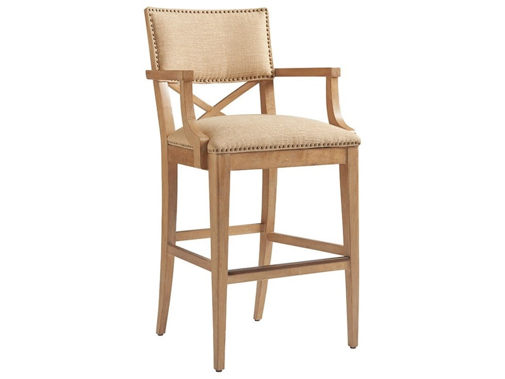 Tommy Bahama Home Los AltosSutherland Upholstered Bar Stool