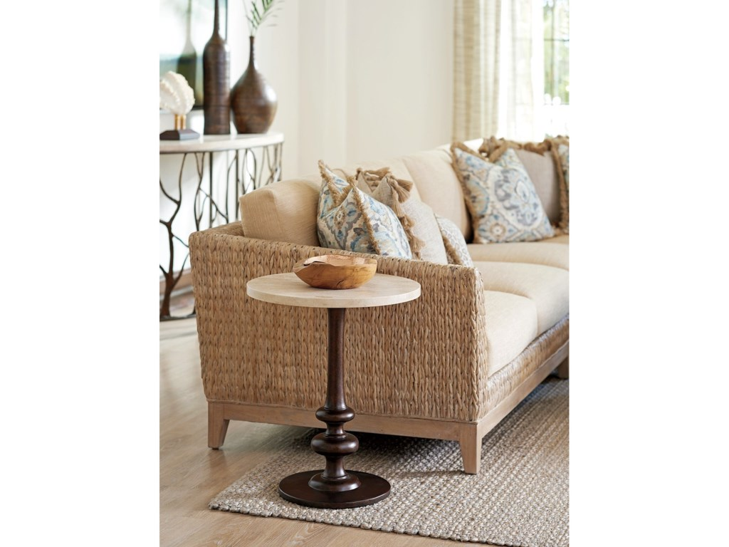 Tommy Bahama Home Los AltosMarshall Stone Top Round End Table