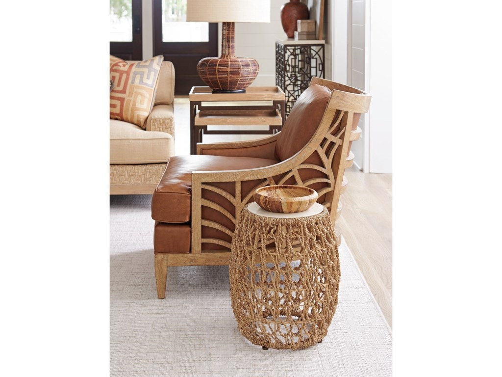Tommy Bahama Home Los AltosMadrid Woven Accent Table
