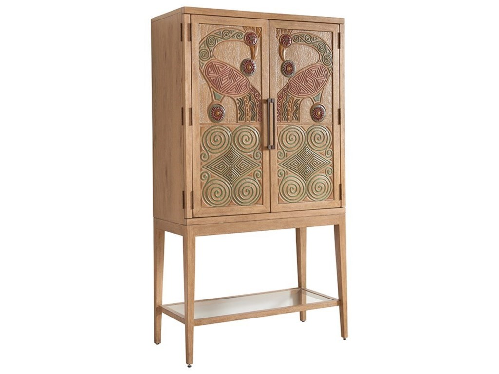 Round Table Los Altos.Tommy Bahama Home Los Altos Cameroon Hand Painted Bar Cabinet With