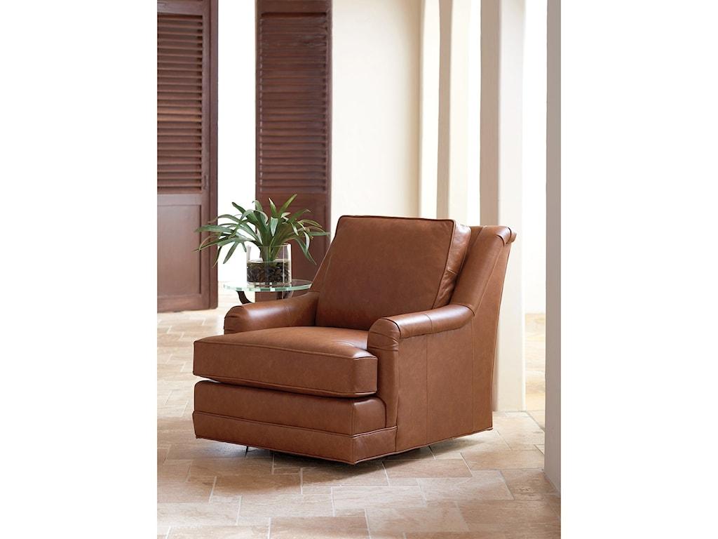Tommy Bahama Home Los AltosBenton Leather Swivel Chair