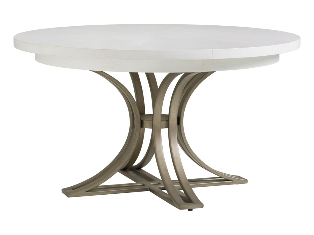 Tommy Bahama Home Ocean Breeze Savannah 54 Inch Round Dining Table With Metal Base Howell Furniture Dining Tables