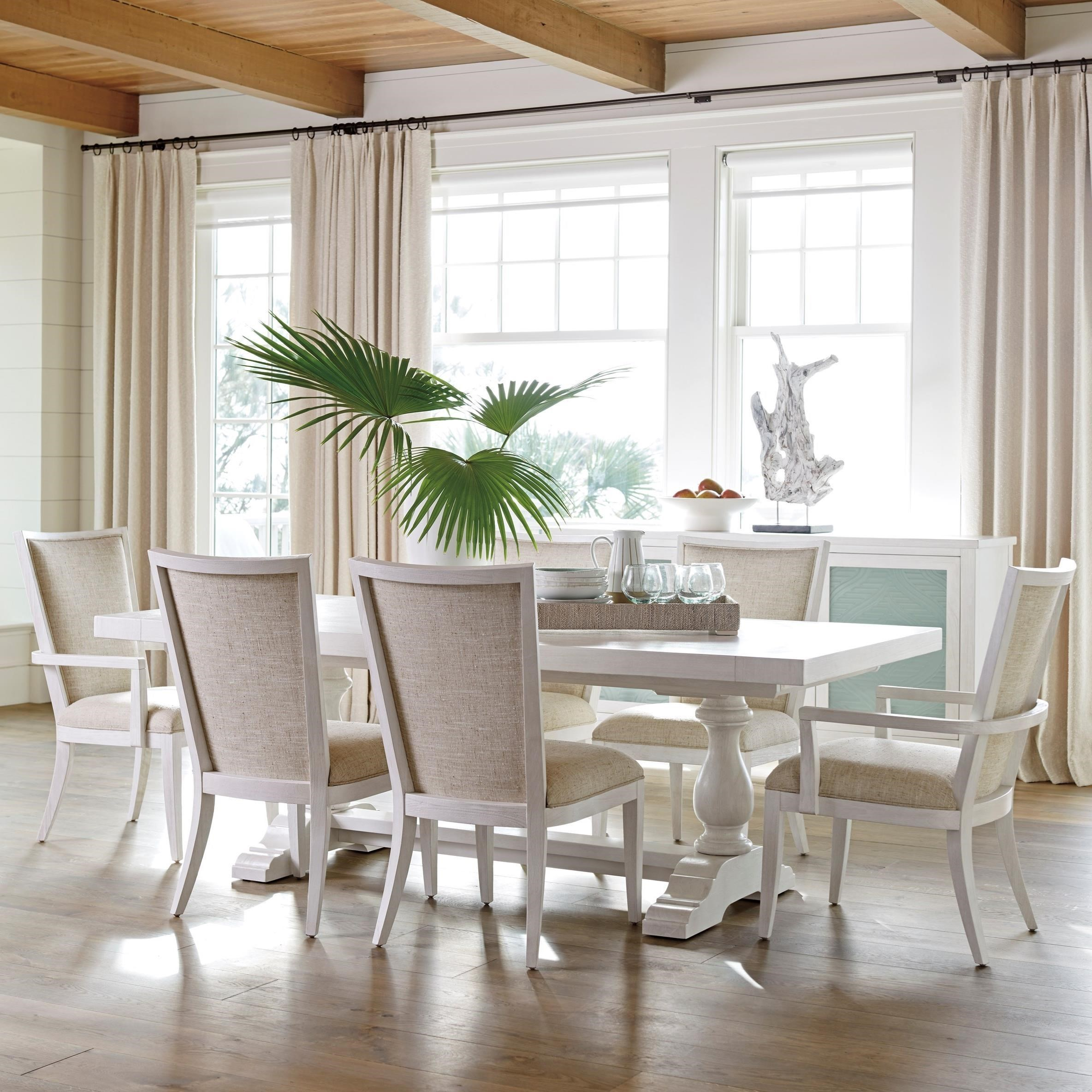 7-Piece Dining Set with Captiva Table and Sea Winds Chairs