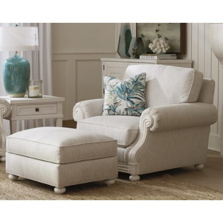 Coral Gables Chair & Ottoman Set