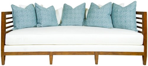 Tommy Bahama Home Ocean Club Exposed Wood St. Lucia Sofa