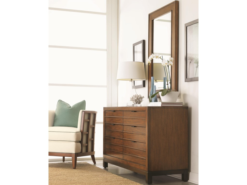 Tommy Bahama Home Ocean ClubPalm Bay Dresser & Somerset Mirror