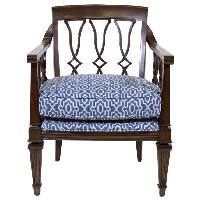 Tommy Bahama Home Royal Kahala Ginger Exposed Wood Chair   Hudsonu0027s  Furniture   Exposed Wood Chairs