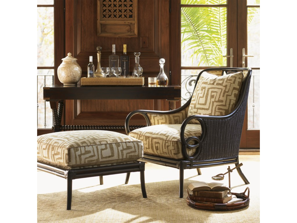 Shown with Sumatra Ottoman and Banyon Tree Console