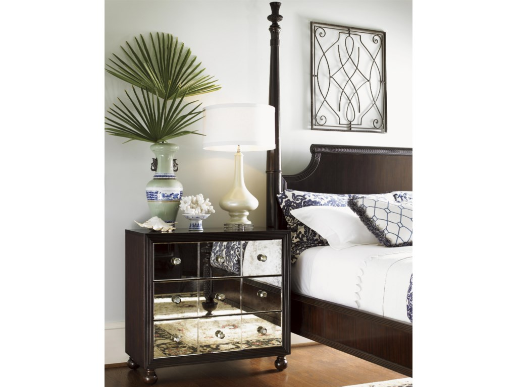 Tommy Bahama Home Royal KahalaStarlight Mirrored Nightstand